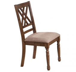 Florence Double X Back Cushioned Side Chair by Winners Only