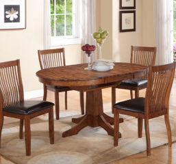 Broadway Round Pedestal Table w/ Butterfly Leaf by Winners Only