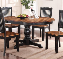 Carson 66″ Pedestal Table w/ 18″ Leaf by Winners Only