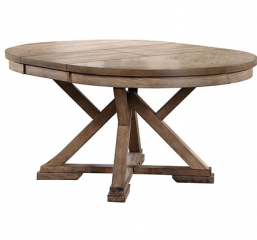 Grandview 66″ Round Table w/ 18″ Butterfly Leaf by Winners Only