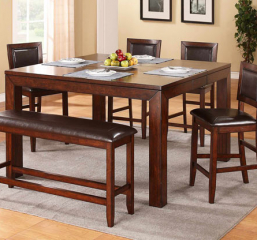 Fallbrook 60″ Tall Leg Table w/ 12″ Butterfly Leaf by Winners Only