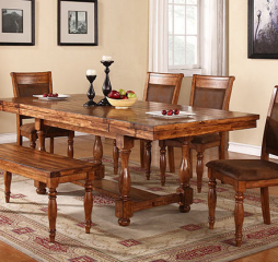 Grand Estate 92″ Trestle Table w/ Two 12″ Leaves by Winners Only