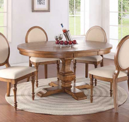 Glendale 66″ Pedestal Table w/ 18″ Leaf by Winners Only