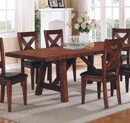 Kingston 96″ Trestle Table w/ Two 13″ Leaves by Winners Only