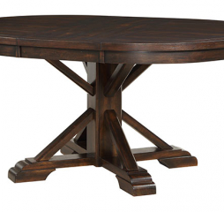 Montreal 66″ Pedestal Table w/ 18″ Leaf by Winners Only