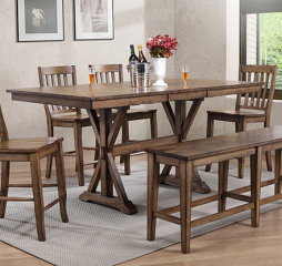 Carmel 78″ Tall Table w/ 18″ Butterfly Leaf by Winners Only