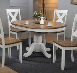 Pacifica 42″ Pedestal Table w/ 15″ Butterfly Leaf by Winners Only