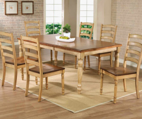 Quails Run Leg Table w/ 18″ Butterfly Leaf by Winners Only