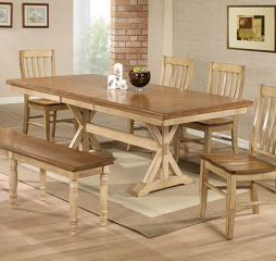 Quails Run Trestle Table w/ 18″ Butterfly Leaf by Winners Only