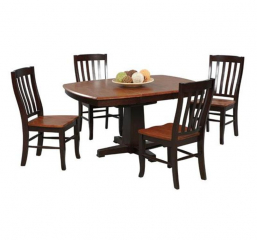 Santa Fe Pedestal Table w/ Butterfly Leaf by Winners Only