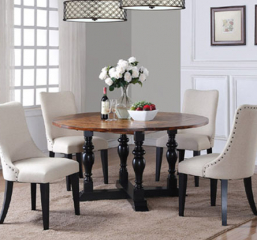 Weston Acacia Round Table w/ Drop Leaves by Winners Only