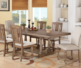 Xcalibur 96″ Trestle Table w/ 20″ Leaf by Winners Only