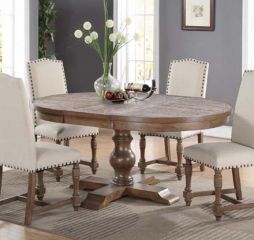 Xcalibur 66″ Pedestal Table w/ 18″ Leaf by Winners Only