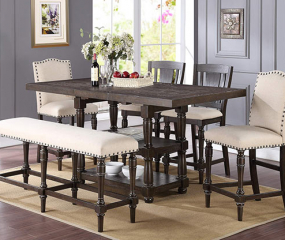 Xcalibur 78″ Tall Table w/ 18″ Butterfly Leaf by Winners Only