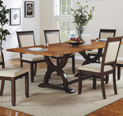 Yukon Trestle Table w/ Two 18″ Leaves by Winners Only