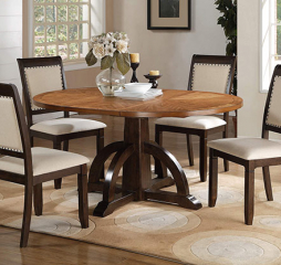 Yukon Pedestal Table w/ 18″ Leaf by Winners Only