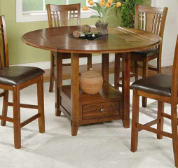 Zahara 60″ Round Table w/ Granite Lazy Susan by Winners Only