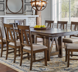 Eastwood 60″ Trestle Table w/ 18″ Leaf by A America