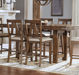 Eastwood Gather Height Trestle Table by A-America