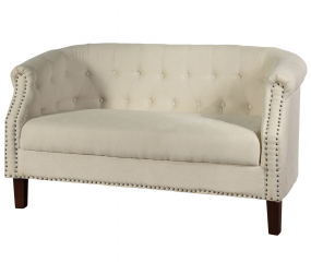 Fabric Settee Sofa with Inside Tufted Side Arms and Back by Stylecraft