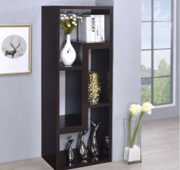 Contemporary Cappuccino TV Console Bookcase by Coaster