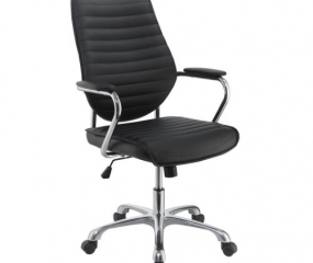 Contemporary Chrome High Back Office Chair by Coaster