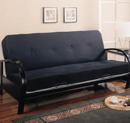 Transitional Black Futon Frame by Coaster