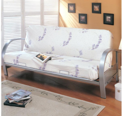 Transitional Silver Futon Frame by Coaster