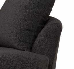 Fuzzy Wuzzy Swivel Cuddler Chair By Porter