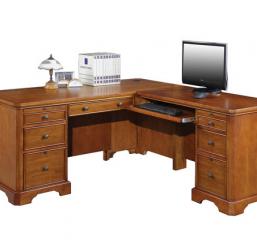 Topaz 66″ Desk w/ 42″ Return by Winners Only