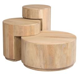 Wabi Sabi Occasional Set of Three Nesting Tables by Porter