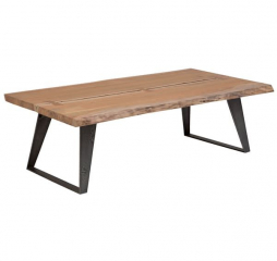 Carmel Live Edge Acacia Wood Coffee Table by Porter