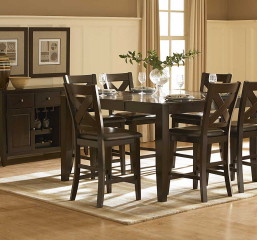 Crown Point 42″ Counter Height Table w/ 18″ Leaf by Homelegance