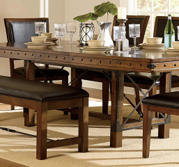 Urbana 72″ Dining Table w/ 18″ Leaf by Homelegance