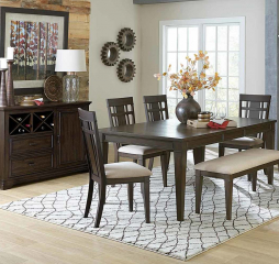 Makah 60″ Dining Table with 18″ Leaf by Homelegance