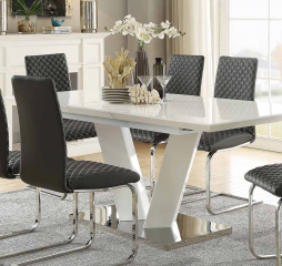 Yannis 63″ Dining Table w/ 15″ Leaf by Homelegance