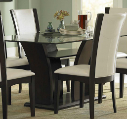 Daisy Dining Table w/ Glass Top by Homelegance