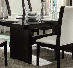 Daisy Dining Table w/ Glass Insert by Homelegance