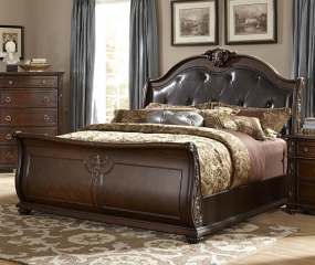 Hillcrest Sleigh Bed by Homelegance