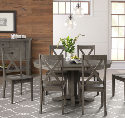 Huron Pedestal Dining Table by A-America