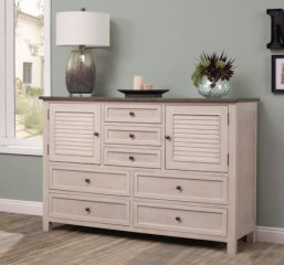 Avila Seven Drawer Dresser w/ Two Closed Shutter Doors by North American Wood