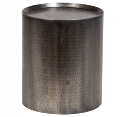 Rotonde Nickel End Table by Porter
