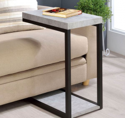 Transitional Cement and Black Accent Snack Table by Coaster