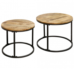Set of Two Nested Round Tables by Stylecraft
