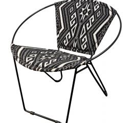 Black Iron Hoop Chair by Stylecraft