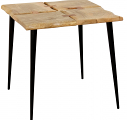 Live Edge Acacia Side Table Made of Four Live Edge Natural Finish by Stylecraft