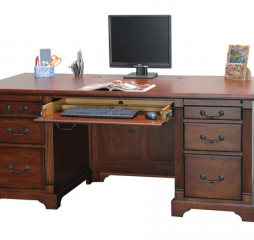Country Cherry 72″ Flattop Desk by Winners Only