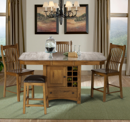 Laurelhurst Wine Storage Gather Table by A America