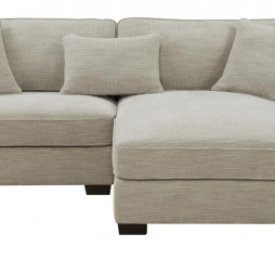 Repose 2Pc Sectional-Lsf Chair-Rsf Chaise W/3 Pillows by Emerald Home Furnishings