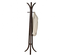 Contemporary Cappuccino Coat Rack w/ Six Hooks by Coaster